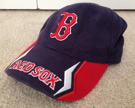 Boston Red Sox MLB Baseball Hat Navy/Red 100% Cotton - $19.99