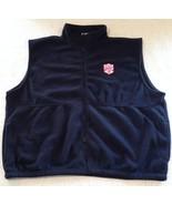 National Capital Velo Club Black Zippered Fleece Vest Ultra Club Collect... - $29.99