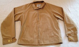 Vintage Van Heusen Brown Windbreaker Mariner Golf Jacket Medium - $39.99