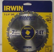 "IRWIN 14025 7-1/4"" Marathon Cordless Circular Saw Blade Japan - $5.45"