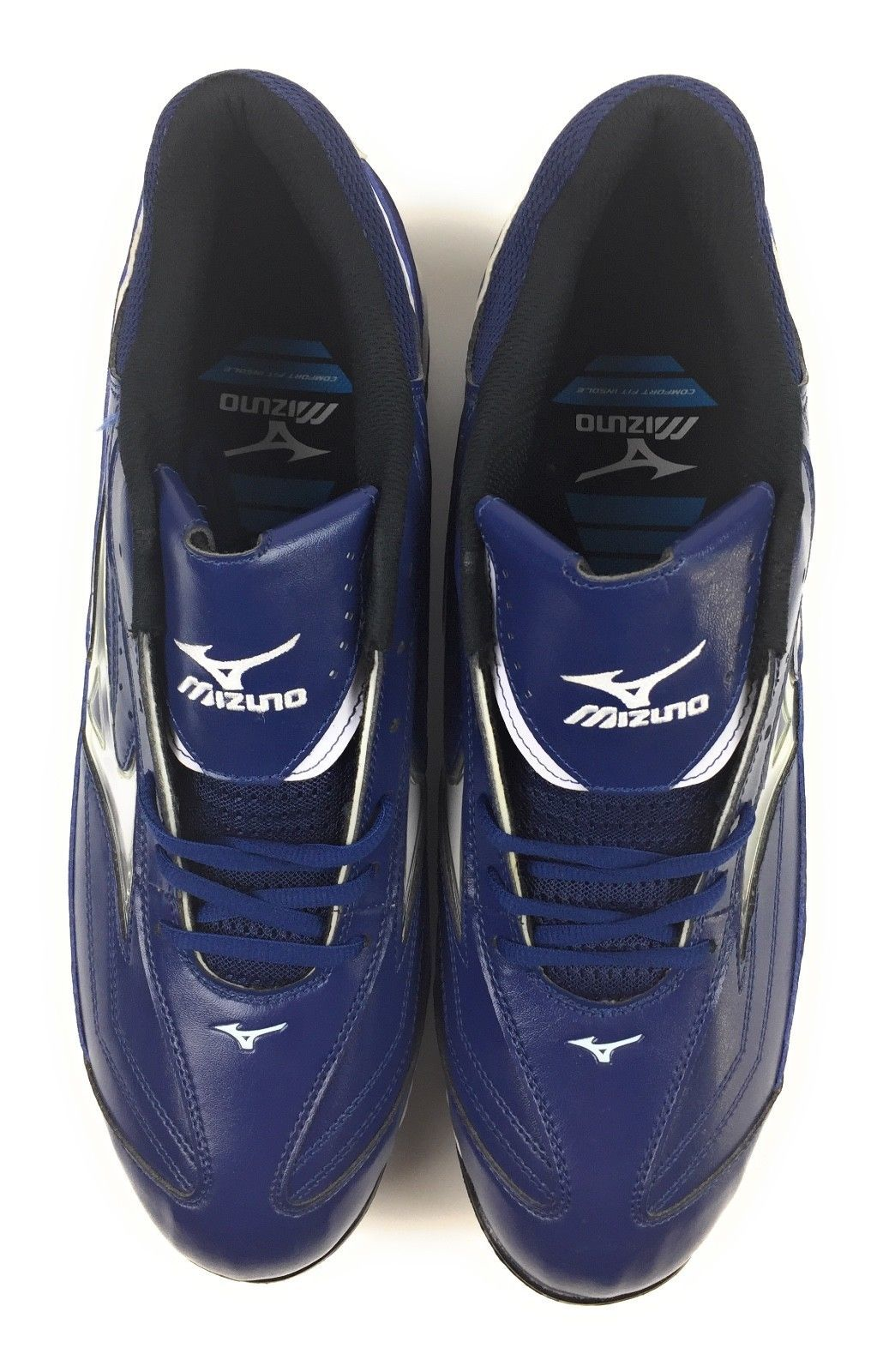 Mizuno 9 Spike Classic G6 Low Switch Metal Baseball Cleats Blue Men's 15 US