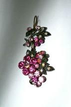 Vintage Pink Rhinestone Flower Pendant - $18.41