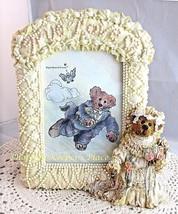 Boyds Bear & Friends BAILEY TRUE LOVE Bridal Bride Wedding Picture Frame - $19.00