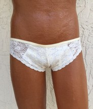 Panties For Men! Nude Lace Panty With Strappy Back. Sexy Mens Panties! - $24.00
