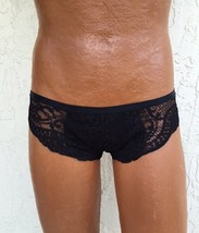 Panties For Men! Black Lace Panty With Strappy Back. Sexy Mens Panties! - $24.00