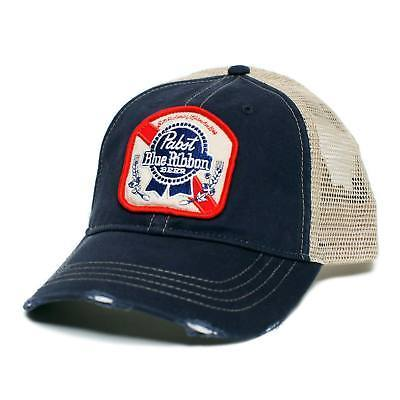 Pabst Blue Ribbon Trucker Hat Blue