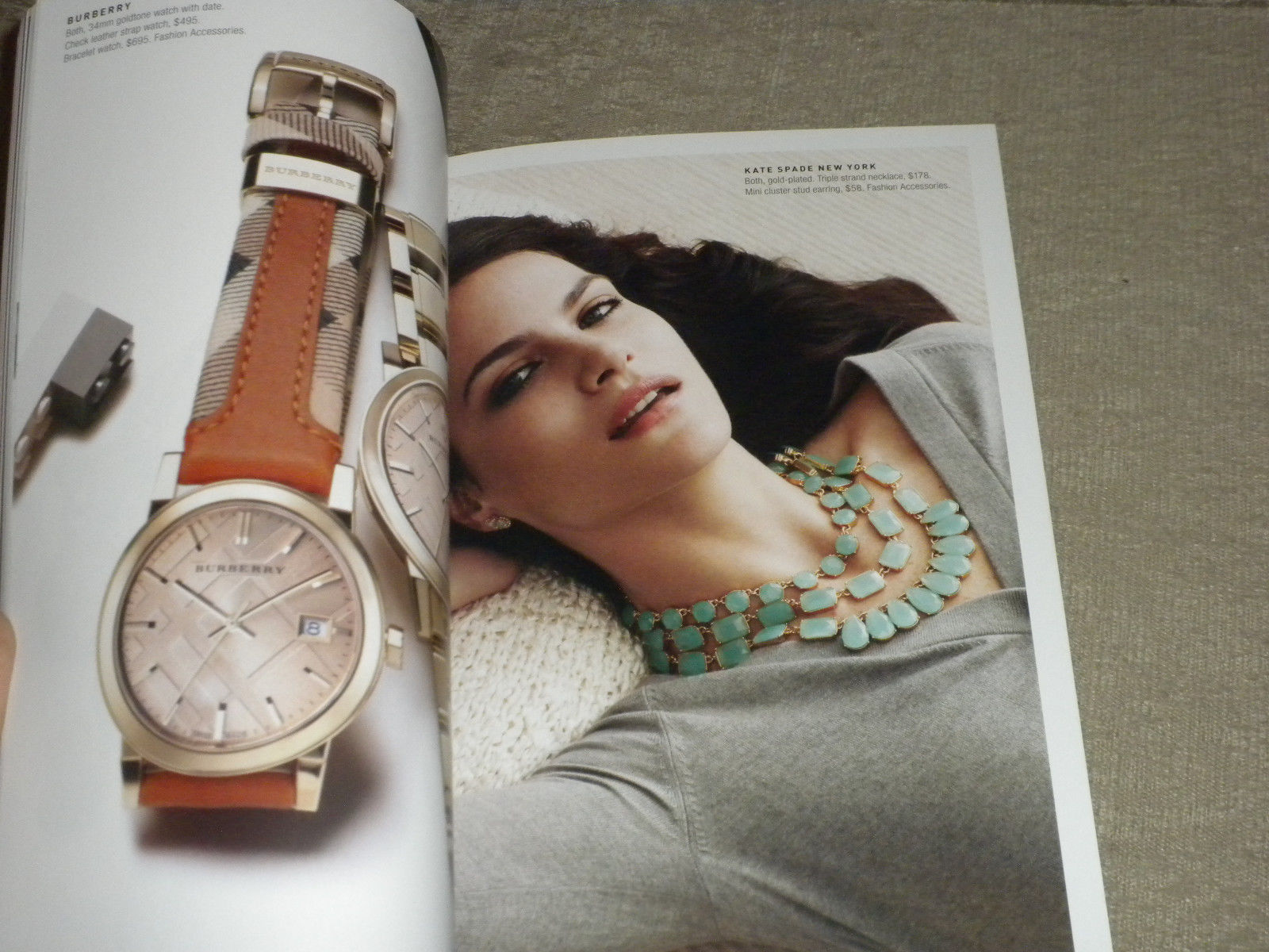 Bloomingdales w model Missy Rayder in New York Mothers Day Fashion catalog 2014