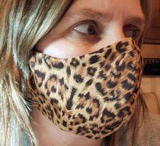 Cheetah Animal Printed Face Mask Breathable Washable Reusable Adjustable  - £6.36 GBP