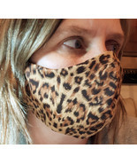 Cheetah Animal Printed Face Mask Breathable Washable Reusable Adjustable  - £6.60 GBP