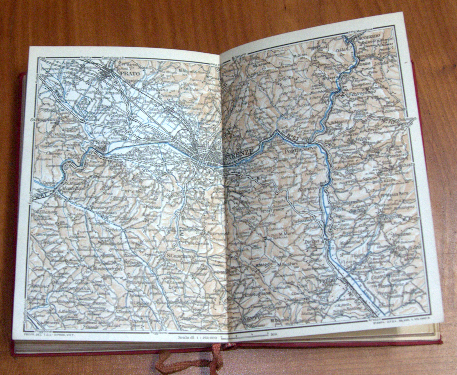 ITALY 1950 Florence Firenze E Dintorni TCI Travel Guide Maps Book 4th Edition
