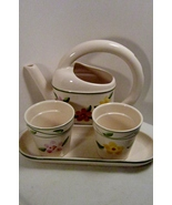 Watering Can and Flower Pots Ceramic 4-piece Se... - $24.99