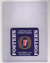 Foster's Australia's Famous Beer Bar Coaster - $5.00