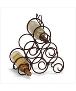 Scrollwork Wine Rack Wrought-iron spirals  - $12.99