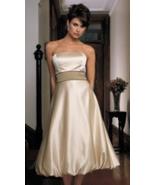 Bill Levkoff NWT Beige Spaghetti Strap Bubble Bridesmaid/Prom/Party Dres... - $26.88
