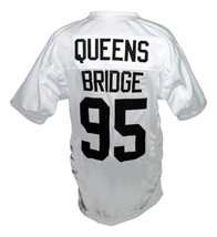 Queens Bridge #95 Shook Ones Hennessy New Men Football Jersey White Any Size image 4