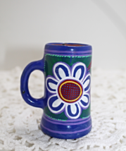 Vintage Miniature Hand Crafted Red Clay Stein Mug Vase - $9.25
