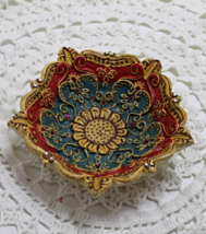 Vintage Decorative Raised Relief Ceramic Bowl - $15.00