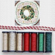 Christmas Anniversary Metallic Blending Filament Collection cross stitch... - $18.00