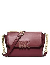 MICHAEL Michael Kors Florence Mini Messenger Bag in Claret Red [Apparel] - £158.78 GBP