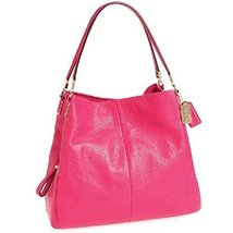Coach Leather Madison Phoebe Shoulder Bag in Pink Ruby [Accessory] - £229.56 GBP