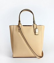 Coach Madison Saffiano Leather MINI North South Tote (Tan) - $275.22