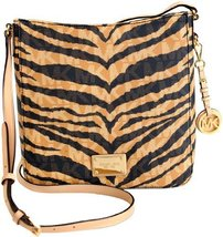 MICHAEL Michael Kors Signature Tiger Print Messenger Bag, Brown - £211.20 GBP