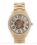 Betsey Johnson Watch, BJ00048-52 Gold-Tone Leopard Flower Boyfriend Watc... - $123.74