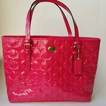 Coach Peyton Embossed Patent Lether Satchel Pomegranate [Apparel] - $221.76