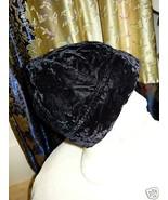 Vintage Black Velvet Scull Cap 22 - $10.00