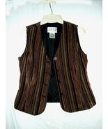 Julian Taylor Velour Striped Vest 10P - $10.00