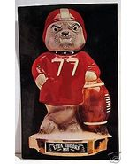 Georgia State Bulldog Mascot Football Decanter by Ezra Brooks - $27.00