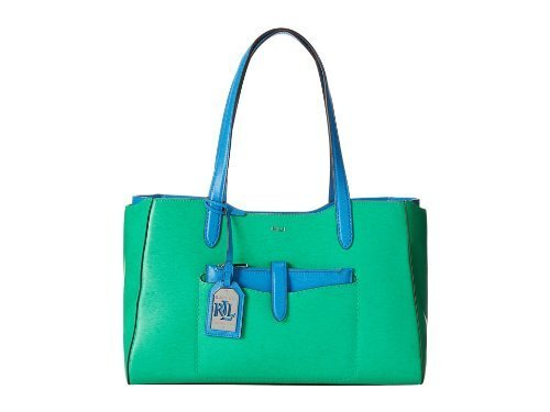 Ralph Lauren Davenport Shopper-Peppermint/French Blue [Accessory]