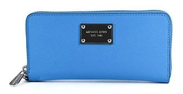 Michael Kors Tech Continental Saffiano Leather Summer Blue Wallet [Shoes] - $192.06