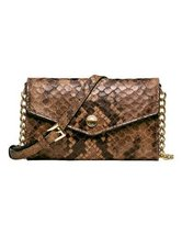 Michael Kors Electronics Python Embossed Leather Phone Case / Cross-body... - $176.22