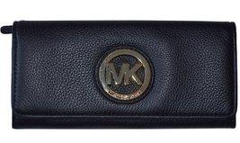 MICHAEL Michael Kors Fulton Long Flap Continental Pebble Leather Wallet ... - $162.36