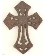 """Cast Iron Cross Wall Hanging Antiqued Rust Color 5.625"""" T Home Decor Rel... - $6.99"""