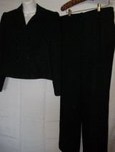 Size 10 Bill Blass Classy Black Jacket / Pant Suit Classy!! - $49.49