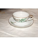 Noritake China-Canton-Bamboo  8 Cup and Saucers Coffee Mid Century Vintage - $39.59