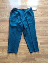 Women's Koret Teal Versailles Stain Resistant Washable Wool Pants Size: 20W - $28.04