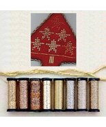 Gold Anniversary Metallic Blending Filament Collection cross stitch Kreinik - $18.00