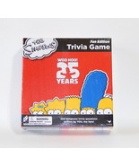 The Simpsons Trivia Board Game 25th Anniversary Fan Edition Bart Homer New - $24.97