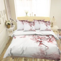 3D Pink Butterfly 26 Bed Pillowcases Quilt Duvet Single Queen King US Lemon - $102.84+