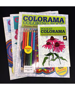 New-Set of 4 Colorama Adult Coloring Books-Inspiration, Decoration, Crea... - $29.65