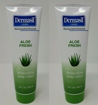 (2) Tubes Dermasil Labs Aloe Fresh Moisturizing Body Hands Feet Lotion 8 fl oz - $8.14
