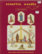 Cross Stitch or Needlepoint Pattern Booklet-AWAY IN A MANGER-Creative Ne... - $4.95
