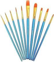 Paint Brush Set Acrylic Xpassion 10pcs Professional Paint Brushes Artis... - $13.47