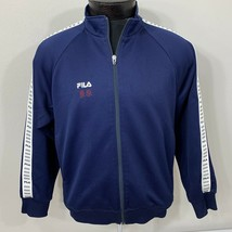 Vintage Fila Track Jacket Colorblock Coat 90s 80s Tennis Soccer Small - $35.59