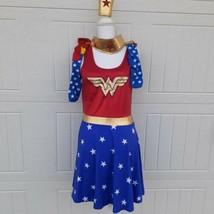 Wonder Woman Halloween Costume Adult Large Justice League Dress Stocking... - $18.48