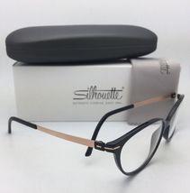 New SILHOUETTE Eyeglasses SPX 1578 75 9020 56-16 135 Black & Bronze Frames image 5