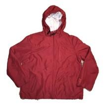 Gap Lightweight Hooded Zip Up Jacket Coat (Red) Boys Size Large - $17.77